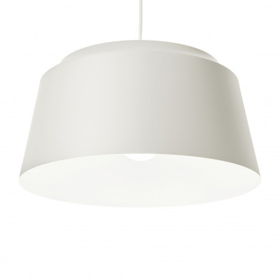 Groove Pendant Lamp   White