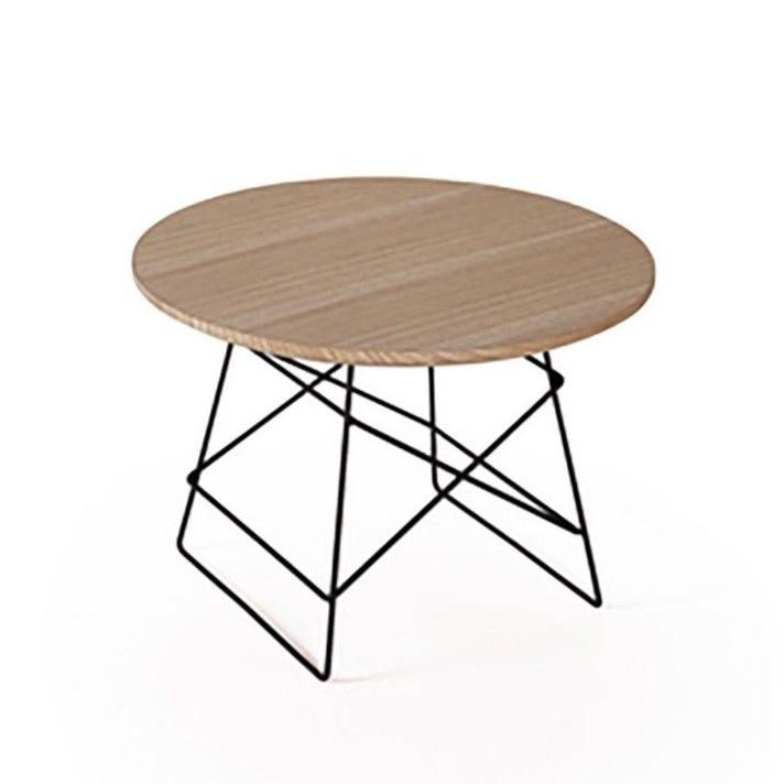 Grid Side Table Oak & Black | Medium