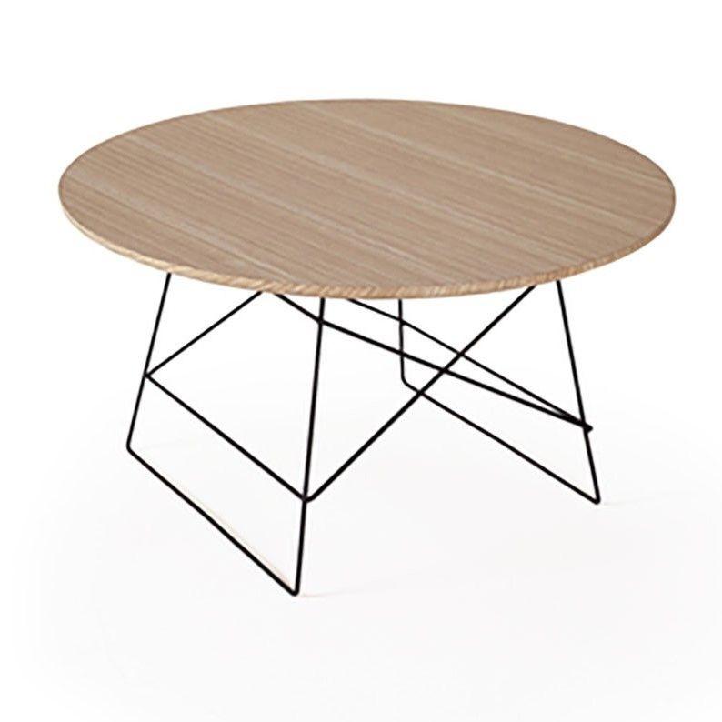 Grid Side Table Oak & Black | Large