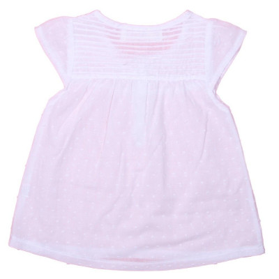 Top with Pleats white
