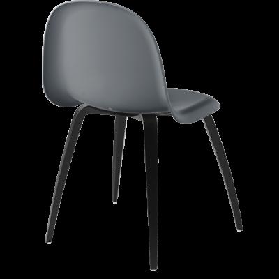 Gubi 5 Stuhl Mittelgrau/schwarz gefärbter Strand