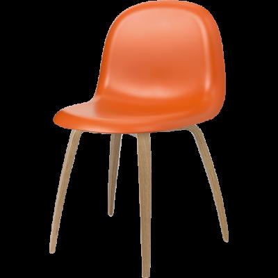 Gubi 5 Stuhl Orange/Eiche