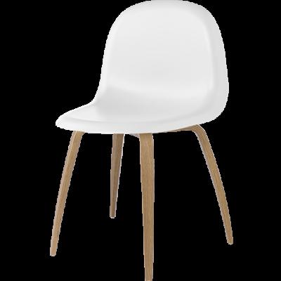 Gubi 5 Stuhl Weiß/Eiche