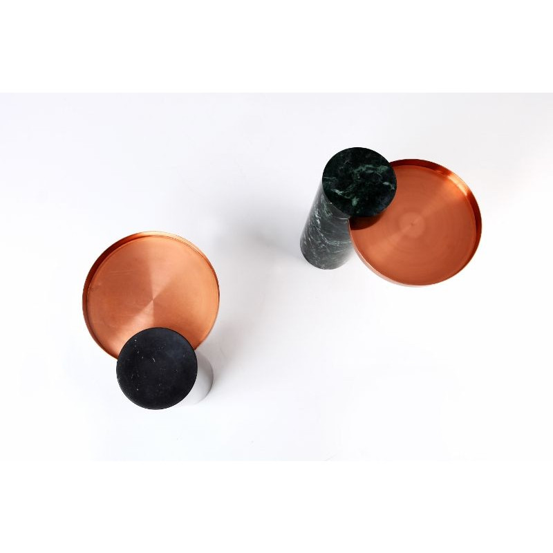 Salute Side Table | Copper & Green Marble