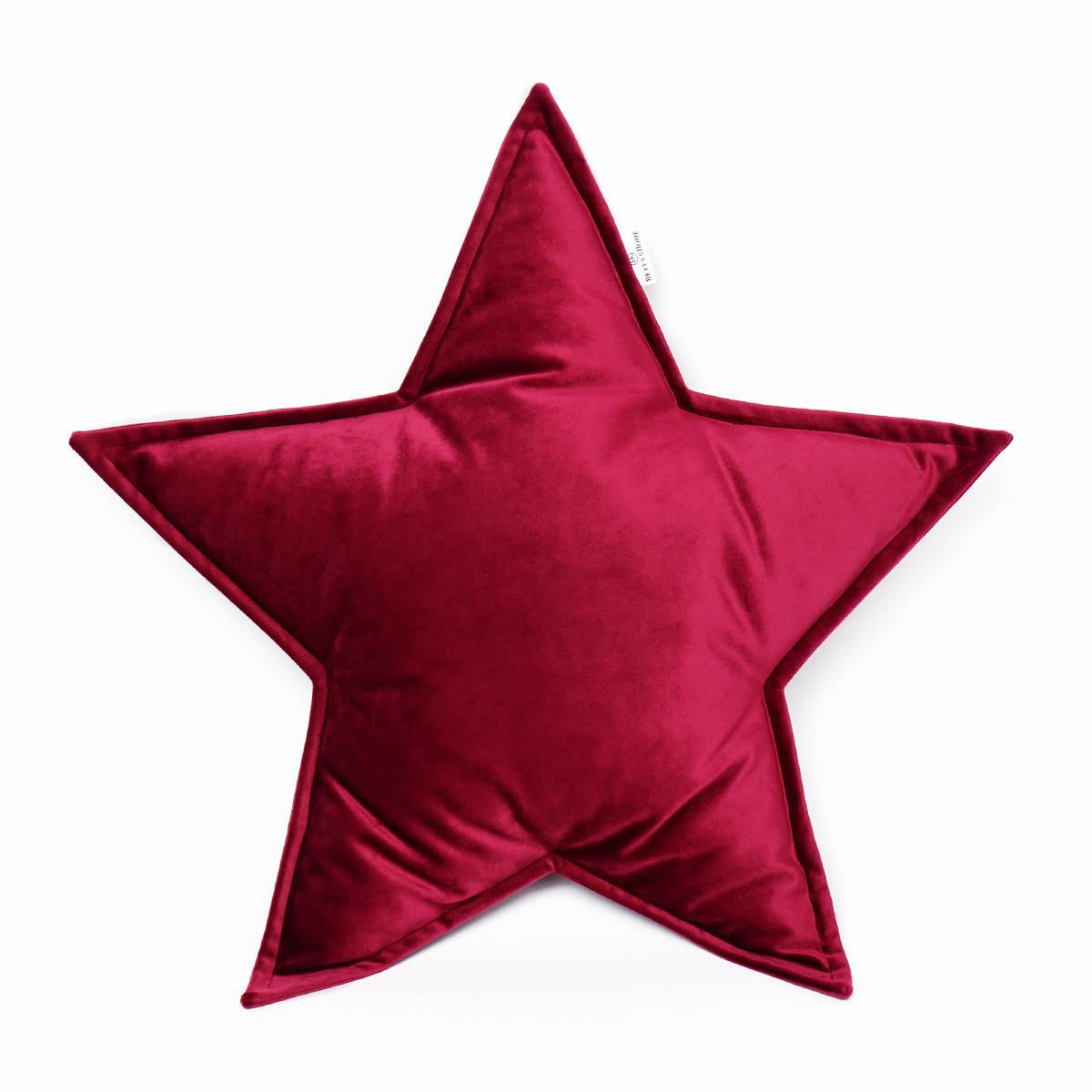 Kussen Ster Groot Fluweel   Rood