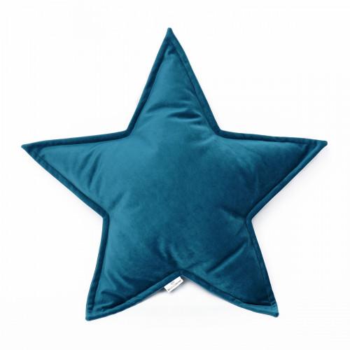 Cushion Big Star Velvet | Turquoise