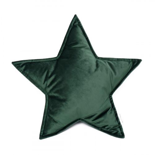 Cushion Big Star Velvet | Green