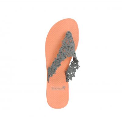 Slippers Hawaï | Salmon & Grey