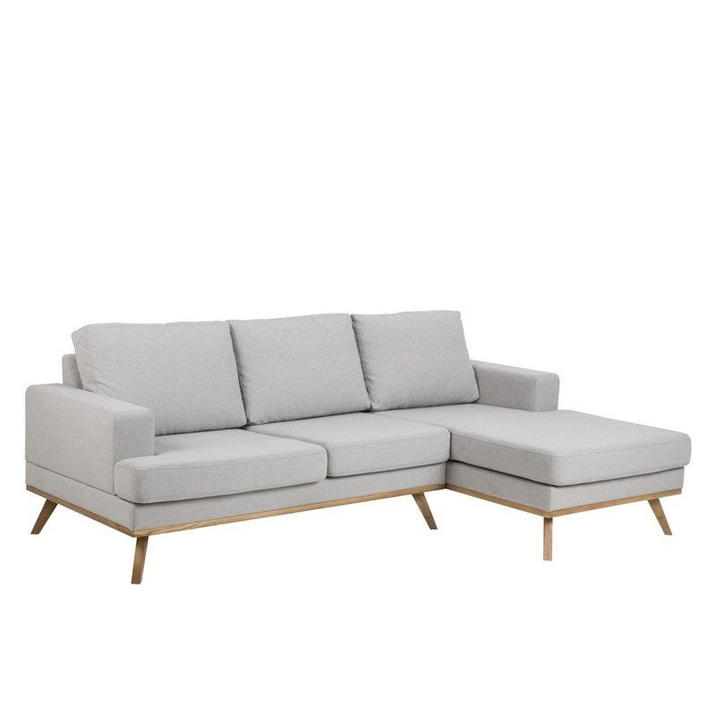 2-Seater Chaise Longue Right Ken   Light Grey