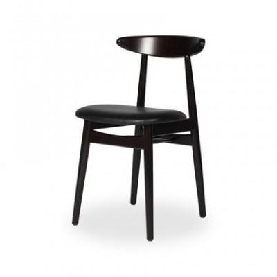 Stuhl Teo gepolstert | Fast schwarz
