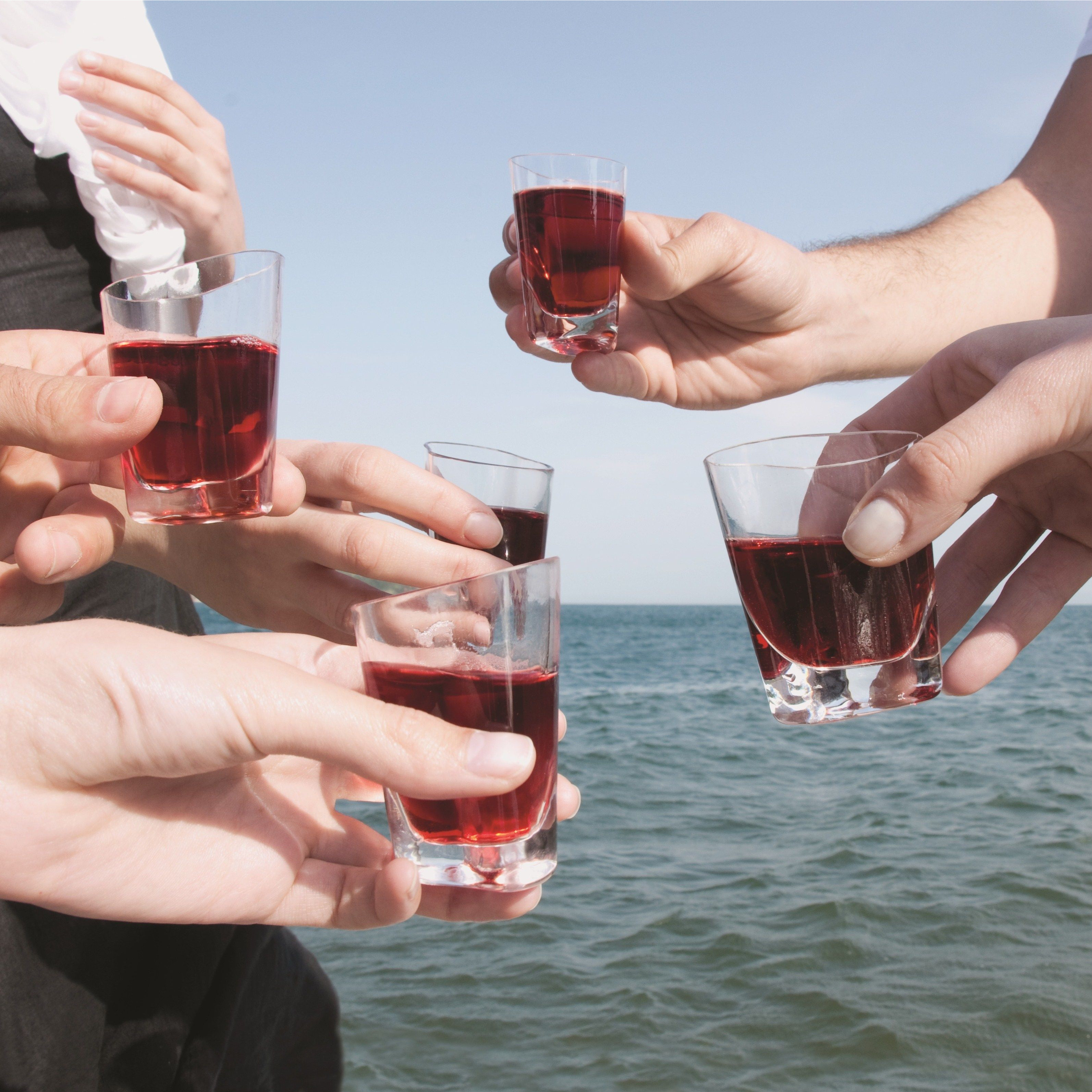 Set of 4 Happycell Liquor Glasses