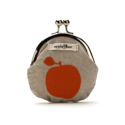 Apple Embroidered Coin Purse