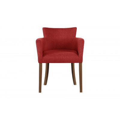 Stuhl Santal | Braune Beine & Rot