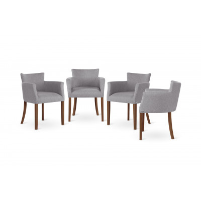 Stuhl Santal 4er-Set   Braun & Grau