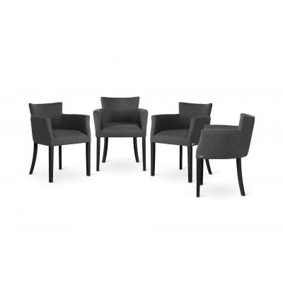 Stuhl Santal 4er-Set | Schwarz & Anthrazit