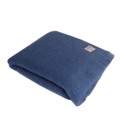 Mohair Hague Blanket   Blue