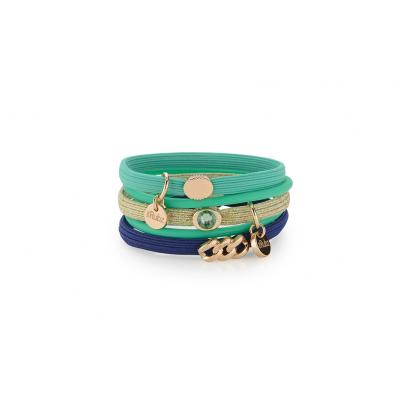 Hair Ties N°4 | Green & Blue