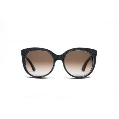 Halley Denim Sunglasses | Stone Black