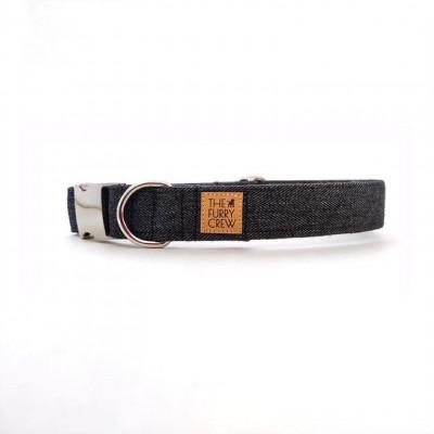 Verstellbares Hundehalsband   Schwarz