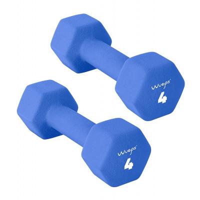 2er-Set Neopren Kurzhanteln 4 kg | Blau