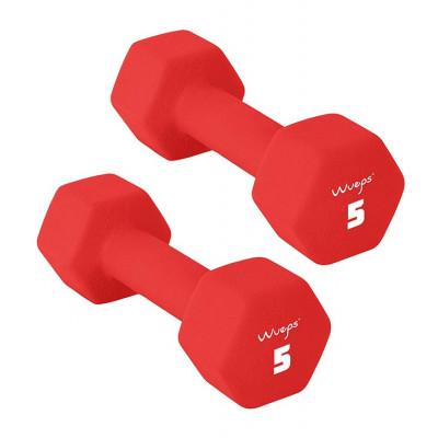 2er-Set Neopren Kurzhanteln 5 kg | Rot
