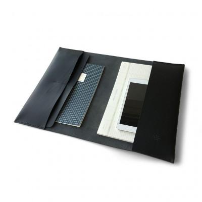Leather MacBook Folder   Black