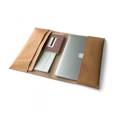 Leather MacBook Folder   Natural