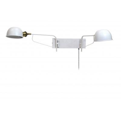 Wall Lamp Hamlet Double | White