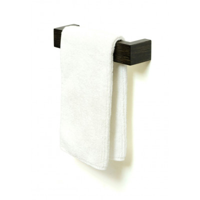 Slimline Einzel-Handtuchhalter 28 cm | Dunkles Holz