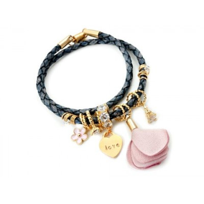 Handcrafted Leather Charm Bracelet | My First Love