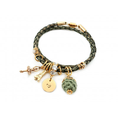 Handcrafted Leather Charm Bracelet | Dancing in Paris