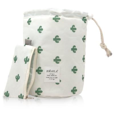 Waterproof Cosmetics Travel Bag   Cactus