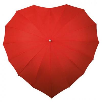 Regenschirm-Herz | Rot