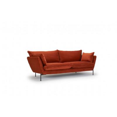 Sofa Hasle Lux   Orange   Metallbeine