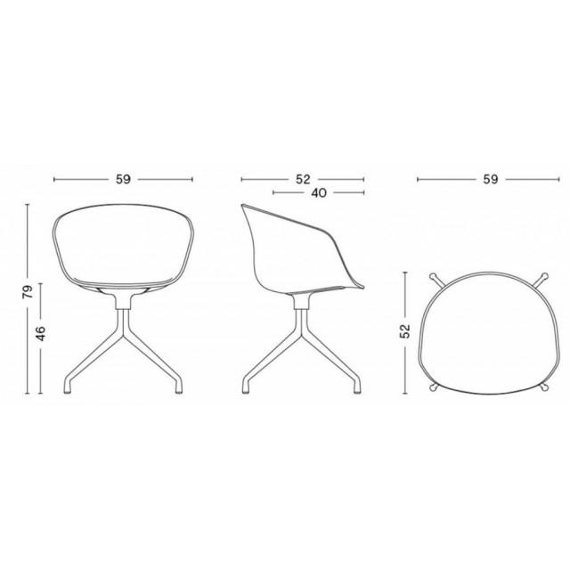 About A Chair AAC20   Aluminium Revêtu Poudré Noir & Noir / Rembourrage Remix 183