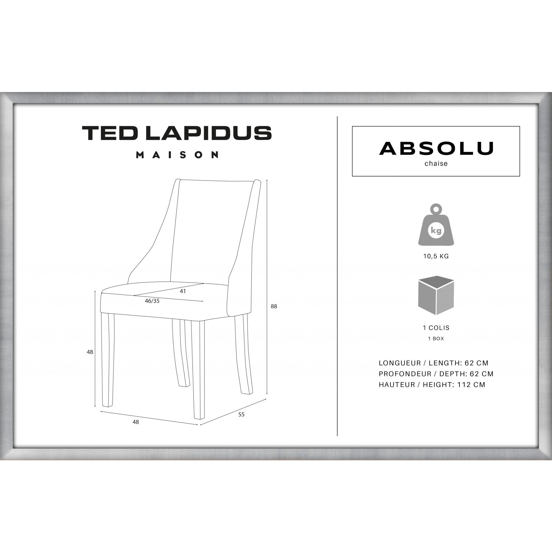Chaise Absolu | Bleu Pétrole & Pieds Marron