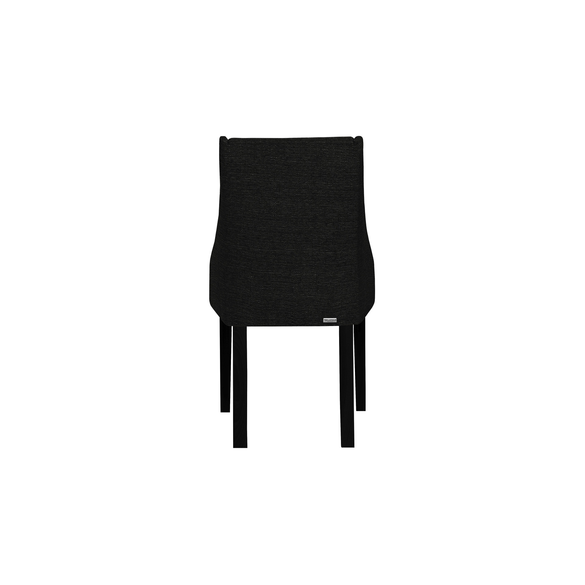 Fauteuil Absolu | Pieds noirs | Dossier noir | Lot de 2