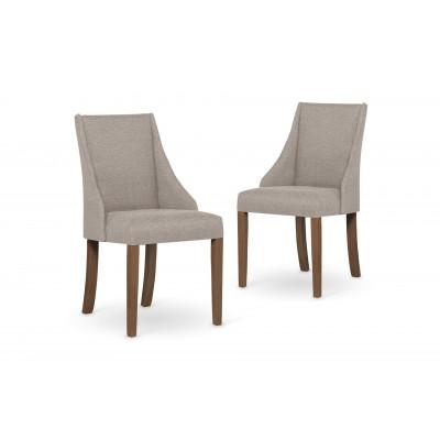 2-er Set Esszimmerstühle Absolu | Beige & Braune Beine