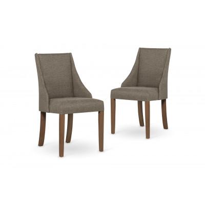 2-er Set Esszimmerstühle Absolu | Haselnuss & Braune Beine