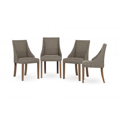 4-er Set Esszimmerstühle Absolu | Haselnuss & Braune Beine