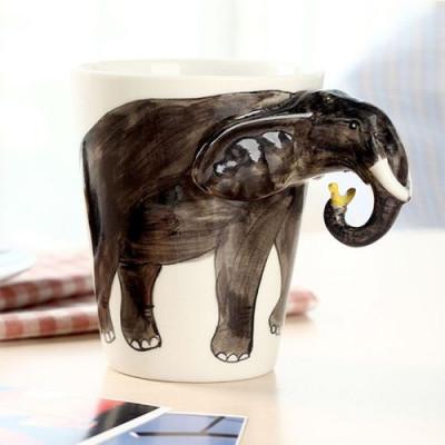 Hand-Painted Mug | Elephant