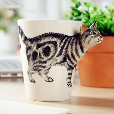 Hand-Painted Mug | Striped Cat