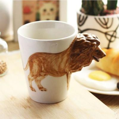 Hand-Painted Mug | Lion