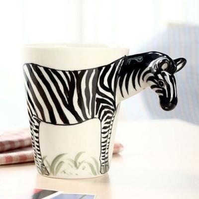 Hand-Painted Mug | Zebra