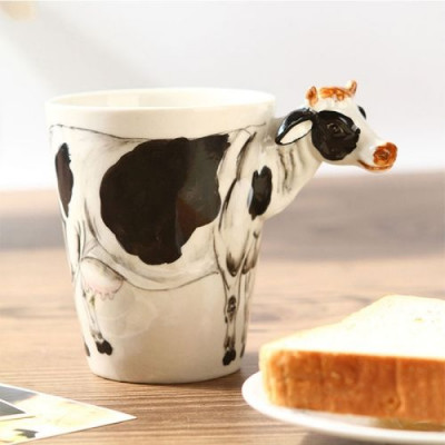 Hand-Painted Mug | Cow