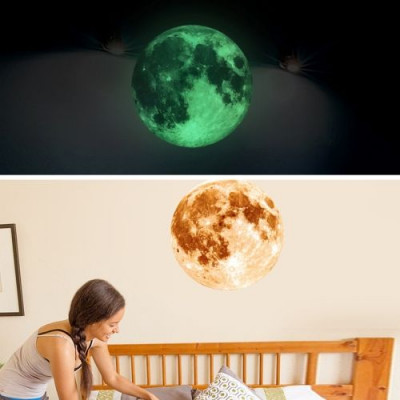 Fluoreszierender Mondwandaufkleber   Gelb