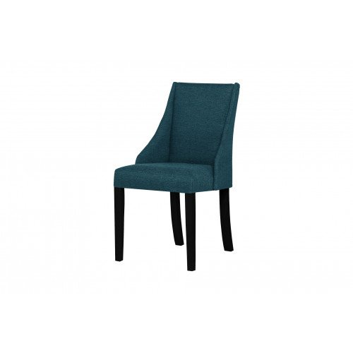 Fauteuil Absolu | Pieds noirs | Dossier turquoise
