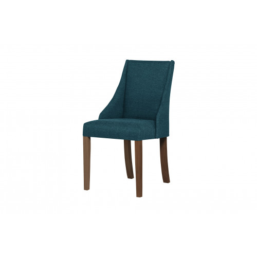 Chaise Absolu   Turquoise & Pieds Marron