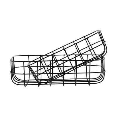 Simply Basket Black Low | Satz/2