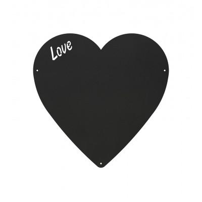 Magnettafel Herz | Holzkohle